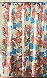 Lush Decor Layla Shower Curtain, 72 x 72 , Orange/Blue