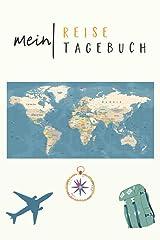 Mein Reisetagebuch: kreatives Urlaubstagebuch, Auslandstagebuch mit Mini-Sprachführer in 4 Sprachen, Logbuch einer Reise, Tagebuch Ferien Urlaub ... Reisenotizen, Reisebuch ca. A5 Taschenbuch