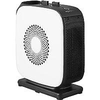 Amazon Basics - Oszillierender Heizlüfter, schmal, tragbar, 2 Geschwindigkeitsstufen, 1500 W