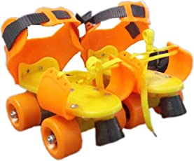Shreeji Retails Metallic-fiber Dry Skates for Boys and Girls with Front Breaks (Colour May Vary, Size- 4 to 12 Years)