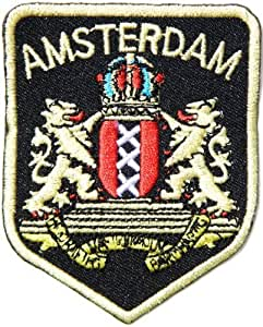 AMSTERDAM Logo Biker Jacket T-shirt Suit Ecusson brode Patch Sew Iron on Embroidered Costum