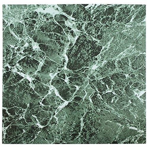 28x mattonelle di pavimento in vinile-Adesivo-Cucina/Bagno Adesivi-Nuovo-Tinta unita Verde Marmo 192