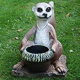 Dekofigur Erdmännchen zum Bepflanzen Tierfigur Pflanztopf Gartenfigur