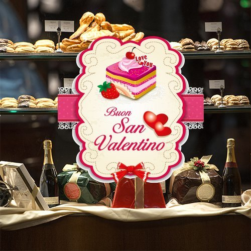Rsv0006 adesivi murali vetrofania san valentino multicolore