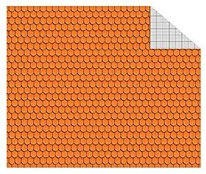 Ursus 11404602Cartulina de construcción, 300g/m², 10Hojas, DIN A4, Madera schindel Naranja