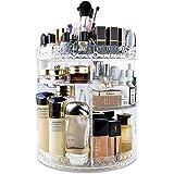 منظم مستحضرات التجميل من انسويت - رف تخزين مستحضرات التجميل دوار 360 درجة - متعدد الاستخدامات وقابل للتعديل