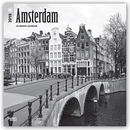 Descargar Libro Amsterdam Black & White - Amsterdam schwarz-weiß 2018 - 18-Monatskalender mit freier TravelDays-App: Original BrownTrout-Kalender de Browntrout Publishers