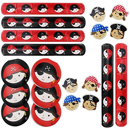 es Piraten-Schul-Set als Mitgebsel, für Schultüten oder als Geburtstagsgeschenk (Piraten Armbänder)
