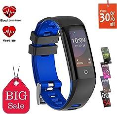 Fitness Tracker, Orologio Fitness Activity Tracker Fitness Bracciale Impermeabile IP67 cardiofrequenzimetro da polso Smart Watch per Uomo Donna Monitoraggio del Contapassi/Contacalorie/Monitor