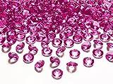 Schnooridoo 500 Diamanten Dunkelrosa 12mm Tischdekoration Streuartikel Hochzeit Taufe Konfirmation Event Deko
