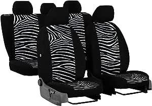 Saferide Universal Autositzbezüge Zebra Komplettset Sitzbezug Für Auto Sitzschoner Set Schonbezüge Autositz Pkw Sitzbezüge Sitzauflagen Sitzschutz Auto