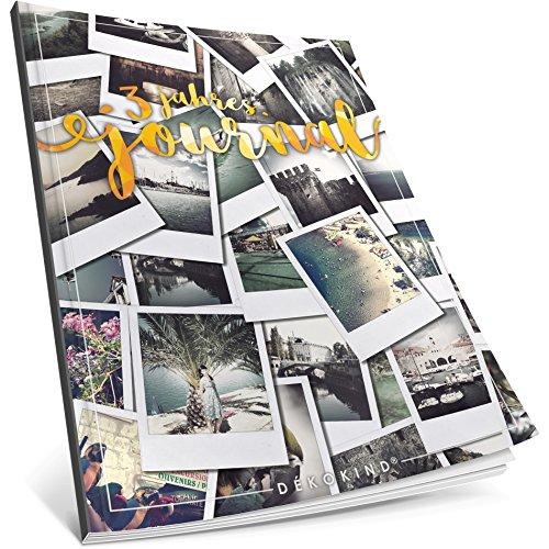 Dékokind® 3 Jahres Journal: Ca. A4-Format, 190+ Seiten, Vintage Softcover • Dicker Jahreskalender, Tagebuch für Erwachsene, Kalenderbuch • ArtNr. 18 Polaroid • Ideal als Geschenk Polaroid 19