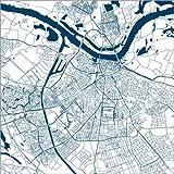 Poster 50 x 50 cm: Stadtplan von Nijmegen von 44spaces -