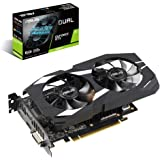 ASUS GeForce Dual-GTX1660TI-O6G-Gaming Grafikkarte (Nvidia, PCIe 3.0, 6GB DDR6 Speicher, HDMI, DVI, DisplayPort)