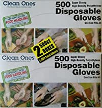 1000 Disposable Gloves (500 ct. x 2 boxes) - FDA Approved