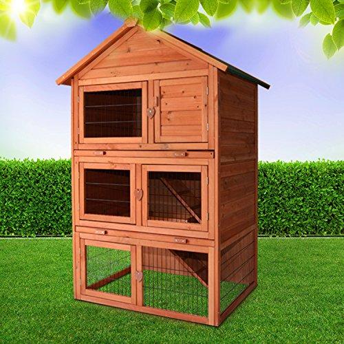 Zooprimus Kaninchenstall 29 Hasenkäfig - Jumbo - Stall für Außenbereich (für Kleintiere: Hasen, Kaninchen, Meerschweinchen usw.)