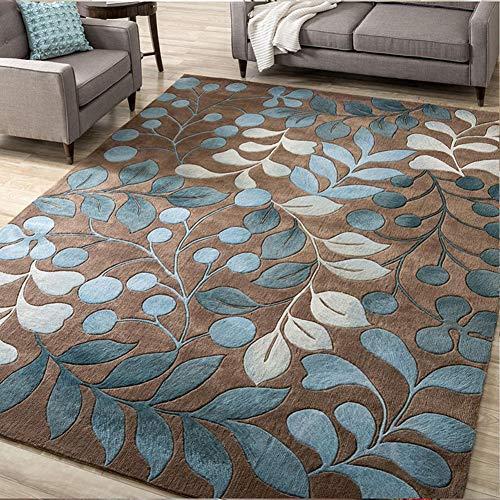 SXFYHXY Alfombras nórdicas Arte de la Flor Abstracta Alfombra para Sala de Estar Dormitorio Antideslizante...