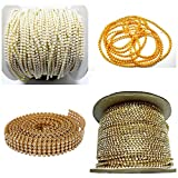 #8: Jewellery making chains & stone lace combo set- pack of 4 items