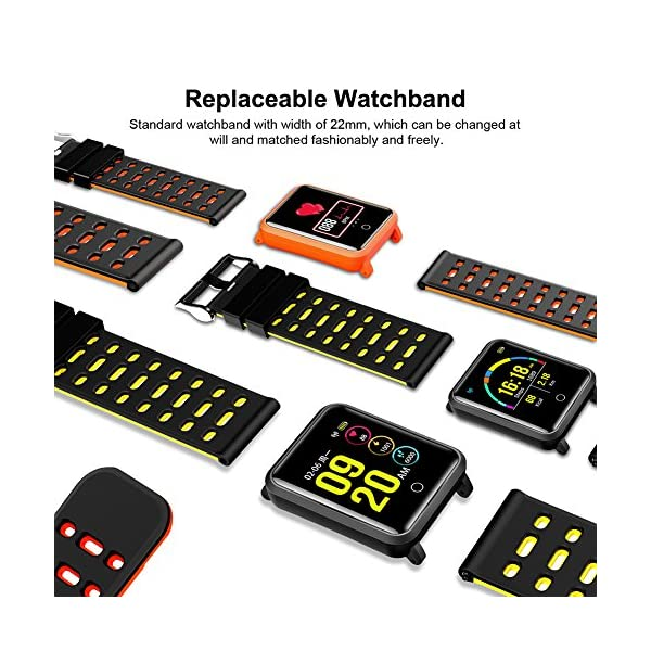 TagoBee TB06 IP68 a Prueba de Agua Smart Watch HD Touch Screen Fitness Tracker Soporte de presión Arterial frecuencia… 5
