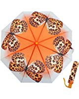 Ladies/Womens Butterfly Dreams Auto Open Compact Umbrella