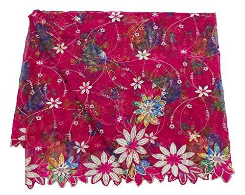 Hochzeit Designer-Jahrgang Gestickte Dupatta Ethnischen Hijab Georgette Anzug Partei Abnutzung Stahl Indischen Traditionellen Schal Frauen Schals (Anzug Georgette)