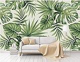 Lzhenjiang murale Moderno E Minimalista Pulito Pianta Della Foresta Pluviale Banana Leaf Giardino Parete Murale Verde Foglia Di Palma Parete Carta Da Parati Di Carta