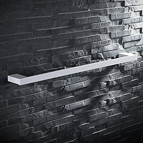 Homelody Porte-Serviettes Porte torchons Barre à Serviettes En Acier Inox Blanc Mate Longueur utile 60cm Accesoires Salle de Bains Toilettes Fixation Invisible