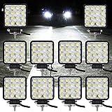 VINGO® 10X 48W LED Arbeitsscheinwerfer Flutlicht Offroad Scheinwerfer kaltweiß 6500K, 4320lm, Traktor Arbeitsleuch