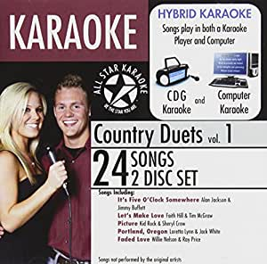 karaoke country duets 1 music. Black Bedroom Furniture Sets. Home Design Ideas