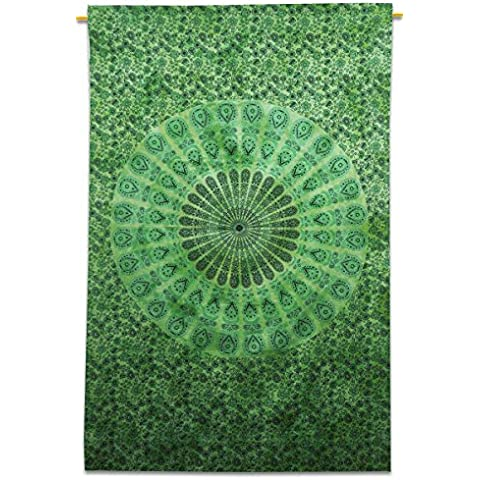 Mandala parete indiano Hanging cotone Tapestry Doppia