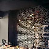Applique murale de tuyaux d'eau Restaurant Salon Chambre à coucher Iron Éclairage créatif (Ce produit No fournir ampoule)...