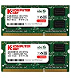 Komputerbay 16GB (2x 8GB) PC3-10600 10666 1333MHz SODIMM 204-Pin Laptop Memory 9-9-9-24 for PC only - not MAC