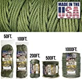 TOUGH-GRID 750lb Camo Green Paracord/Parachute Cord - Genuine Mil Spec Type IV 750lb Paracord Used by The US Military (MIl-C-5040-H) - 100% Nylon - Made in The USA. 1000Ft. - Camo Green Amazon deals