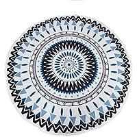 Sannysis Toallas de Playa, Indian Mandala Roundie Beach Throw Tapestry Hippy Boho Gypsy Cotton, 150cm x150cm (A)
