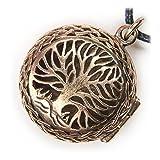 Drachensilber Lebensbaum Schmuck Anhänger Bronze Medaillon Kette
