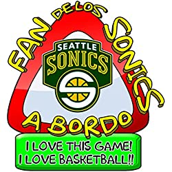 Pegatina Fan Sonics a bordo NBA