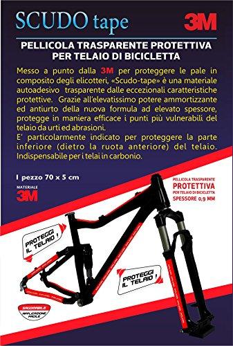 3M – Rahmenschutzfolie, für Karbon-Rahmen von MTB und Rennrad, Maße: 5x 70cm, Inhalt: 1x Aufkleber Mtb Bike Rahmen