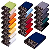 SPANNBETTLAKEN WASSERBETTEN BOXSPRINGBETTEN SPANNBETTTUCH LAKEN 180x200-200x220 165gr/m² Öko-Tex-Zertifikat Avantgarde 100% Baumwolle 19 Farben (14-dunkelblau)