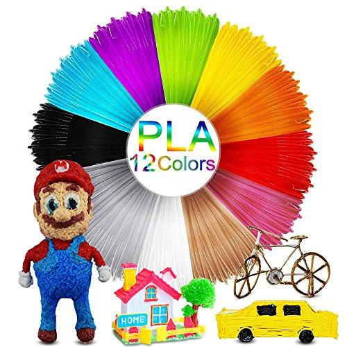 3d penna filamento , mixigoo 3d pla filamento ricarica 12 colori 1.75mm 5m, materiali 3d filamenti per penna di stampa 3d, filamento di stampa 3d