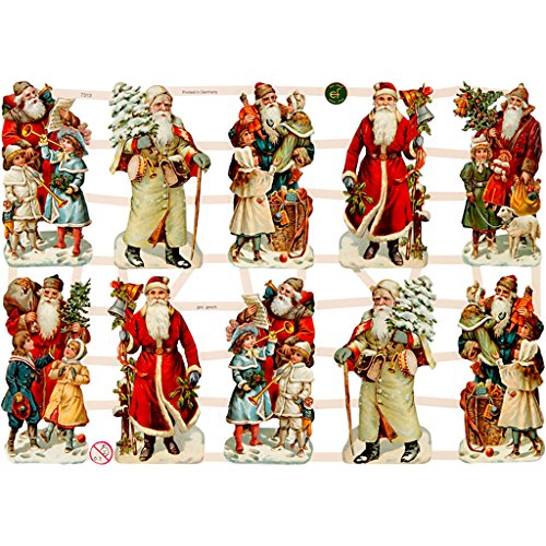 Christmas Music Paper Vintage Die-Cuts 3 Sheet