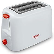 Maharaja Whiteline Viva 750-Watt Pop-up Toaster (Red and White)