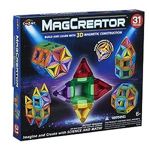 ColorBaby Juego MAGNETICO MAGCREATOR 3D Contiene 31 Piezas, (44805)