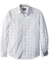 BUGATCHI Men's Cotton Slim Fit Button Down Shirt