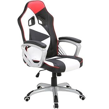 Woltu Racing Stuhl Bürostuhl Schreibtischstuhl Chefsessel