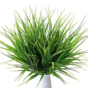 mihounion 4 bouquets realistic artificial plants fake wheat grass greenery artificial plastic. Black Bedroom Furniture Sets. Home Design Ideas
