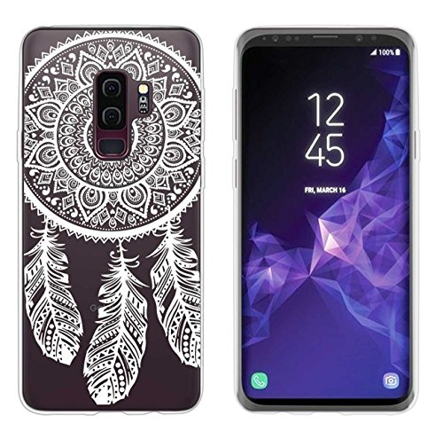 yayago Hülle für Samsung Galaxy S9+ / Samsung S9 Plus Silikon Schutzhülle Hülle Case Backcover Tattoo Ornament Spring Design transparent Tasche