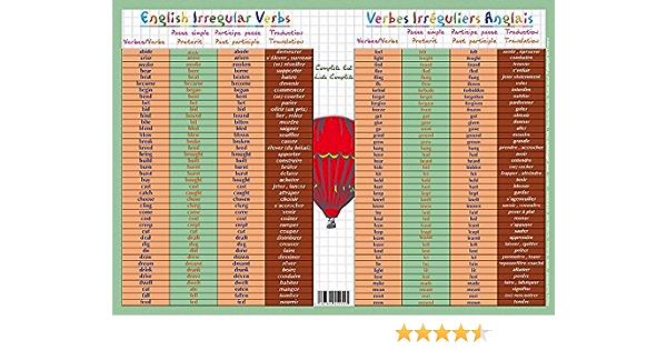 Mgm Sous Main Les Verbes Irreguliers En Anglais Amazon Co Uk Toys Games