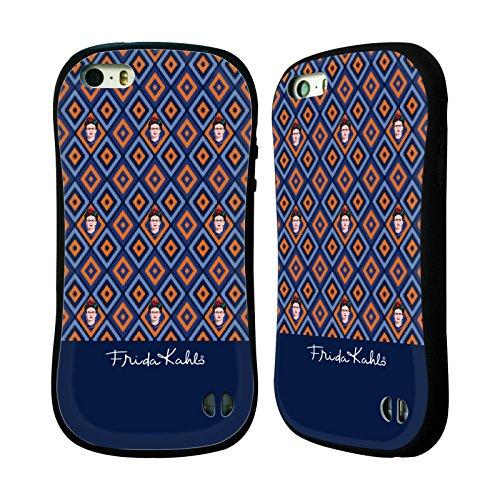 Ufficiale Frida Kahlo Marrone Ritratti E Pattern Case Ibrida per Apple iPhone 6 Plus / 6s Plus Arancione