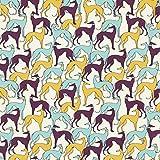 Fabulous Fabrics Baumwollstoff Popeline Windhunde - Schilf