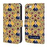Head Case Designs Offizielle Frida Kahlo Gelb Portrait Und Muster Brieftasche Handyhülle aus Leder für Apple iPhone 5c